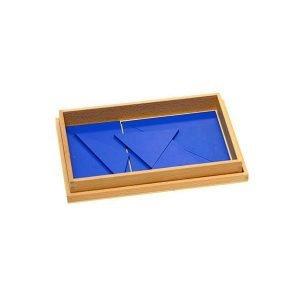 Caja rectangular azul