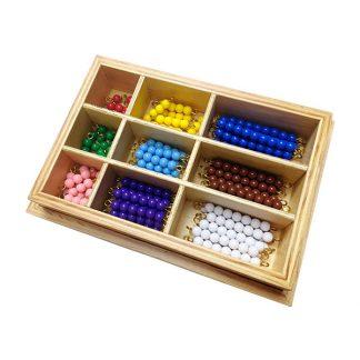 Caja con bastones de colores del 1-9
