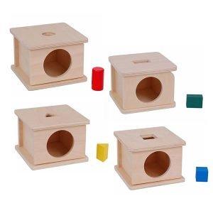 Cajas para insertar figuras geométricas
