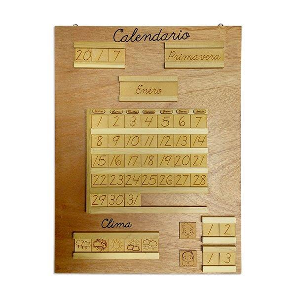 Calendario Montessori.Calendario