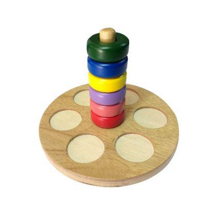 Carrusel con aros Montessori