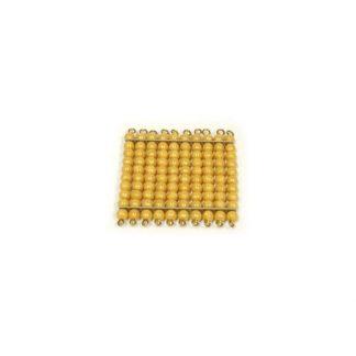 Centena de perlas doradas Montessori