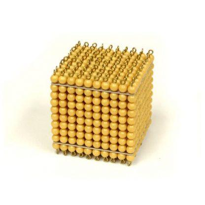 Cubo del millar en perlas