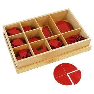Fracciones circulares del 1-10 Montessori