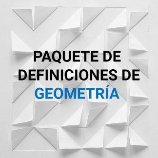 Definiciones de geometría