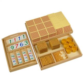 Material dorado Montessori