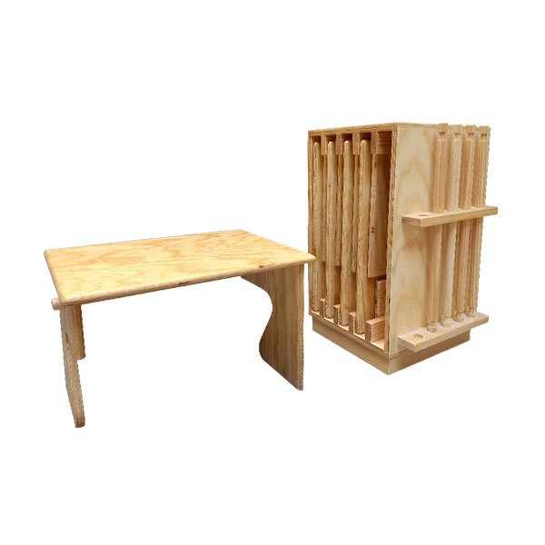 Mueble con 5 mesas plegables montessori educativos for Mueble muteki 5 2