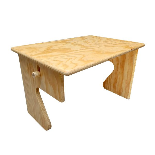 Mueble con 5 mesas plegables montessori educativos for Mesas o muebles para telefonos