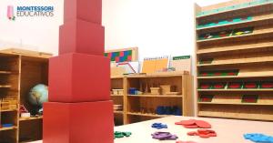 ¿Por qué el color de la Torre Rosa del Método Montessori y cuál es su función?