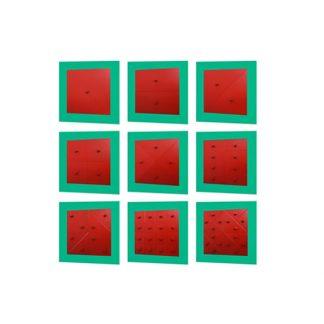 resaques cuadrados de metal Montessori