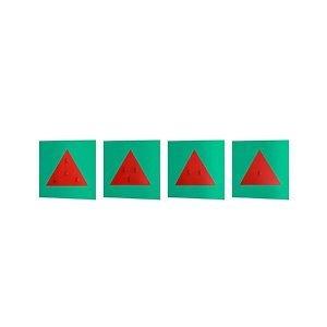 Resaques triangulares de metal