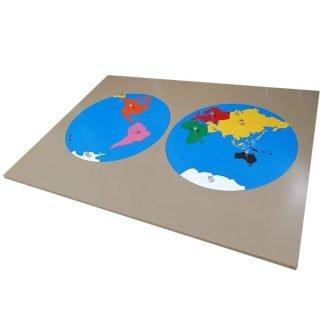 Rompecabezas Mapamundi - Montessori