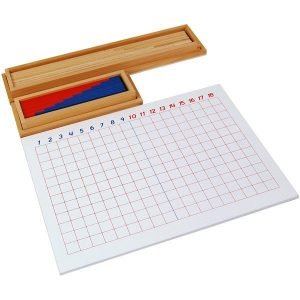 Tablero de la resta Montessori