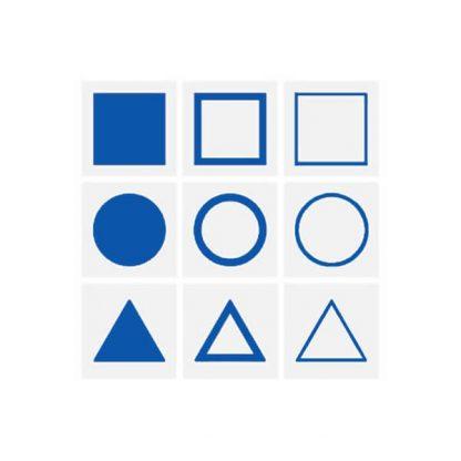 Tarjetas de demostración de geometría